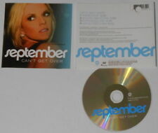 September  Can't Get Over mixes    U.S. cd