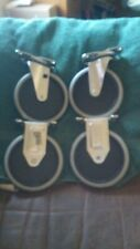 RUBBERMAID 5 INCH CART WHEELS NEW, NEVER USED COMPLETE SET