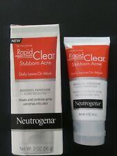 Neutrogena Rapid Clear Stubborn Acne Daily Leave-On Mask 2 oz Exp:12/19