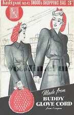 Vintage Knitting/Crochet Pattern 1940s/WW2 Lady's Snoods & Shopping Bag
