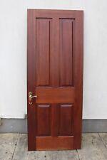 solid hardwood four panel internal double doors mahogany finish (4)