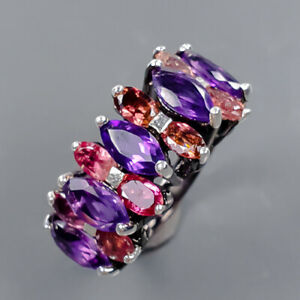 Jewelry Handmade Amethyst Ring Silver 925 Sterling  Size 5.75 /R177979