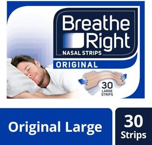 Breathe Right Snoring Congestion Relief Nasal Original Large - 30 Strips