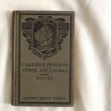 John Milton's L'Allegro IL Penseroso, Comus & Lycidas, 1914
