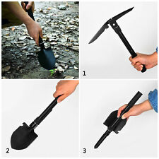 New Military Folding Shovel Survival Spade Hiking Camping Outdoor Garden Tool