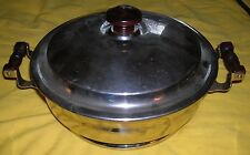 """VINTAGE MANNING BOWMAN & CO CHAFING SERVER  WITH 8"""" GRANITEWARE BOWL"""
