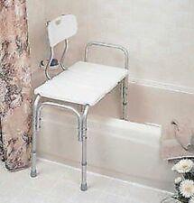 MEDICAL GRADE Shower Bathtub Transfer Bench Microban Adjustable 350lb Reversable