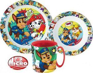 PAW PATROL Kids 3 pcs Dinner Set Plate Bowl Mug  New