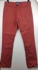 Topman Vintage Slim Men's Maroon Jeans Pants Trousers  Size UK W 28 L 30