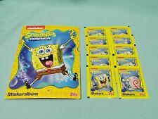 Topps Spongebob Schwammkopf  Sticker & Cards  Sammelalbum + 10 Tüten