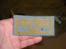 vintage 1935 CAMP PERRY OHIO RIFLE PISTOL SHOOTING  SCHOOL GUARD FELT PATCH