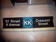 54X11 NYC SUBWAY SIGN KK 57th 6 AVE CRESCENT BROOKLYN MANHATTAN NY ROLL SIGN ART