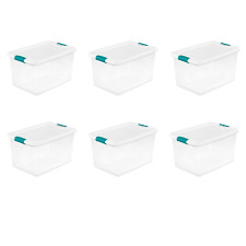 Storage Containers Latching Box Sterilite 64 Qt. White Set of 6