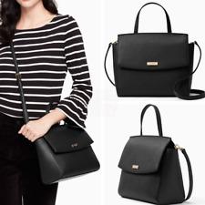NWT Kate Spade Alisanne Laurel Way Black Satchel Bag Crossbody Handbag WKRU4667