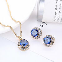 Crystal Necklace Earrings Jewelry Sets Wedding Party Accessories Jewelry   XJ