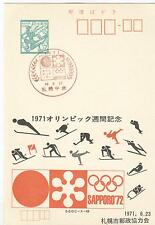 Japan Olympische Spiele Olympic Games 1972 stationery Olympic Day 1971