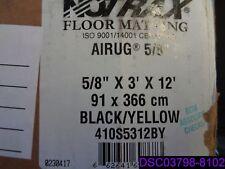 NOTRAX 410S5312BY Antifatigue Runner, 3 x 12 ft., Blk w/Ylw