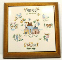 """Heartland"" International China Dinnerware Trivet / Wall Hanging Kitchen Deco"