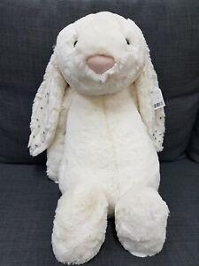 Kids Soft Toy - Jellycat Bashful Twinkle Bunny Huge 51CM- Kids Birthday Present!