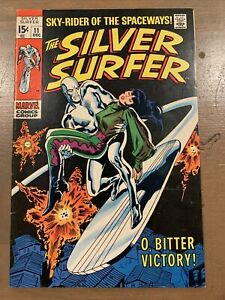 MARVEL SILVER SURFER #11 SKY-RIDER OF THE SPACEWAYS!! O BITTER VICTORY DEC 1969