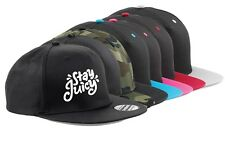 Snapback Cap hat STAY JUICY youtube youtuber ADJUSTABLE