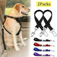 2 Pack Cat Dog Pet Safety Seatbelt Car Vehicle Adjustable Seat Belt Harness Lead