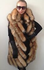 XL - 2XL  Fur fox beautiful  spectacular  jacket coat  vest