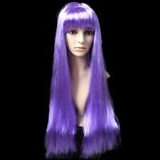 Heat Resistant Long Straight Cosplay Wig Hair Wig with Bangs for Party yuUVT