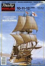 English Galeon from XVII Century MAYFLOWER - Paper / Card Model Scale 1/100