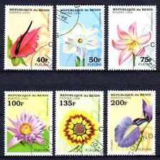 Flore - Fleurs Bénin (6) série complète de 6 timbres oblitérés