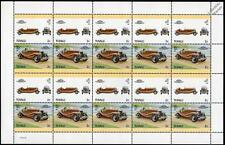 1930 DUPONT Model G Car 20-Stamp Sheet / Auto 100 Leaders of the World