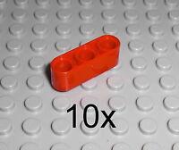 LEGO Technic - 10x Lochbalken Lochstange Liftarm 1x3 rot red beam 32523 9398