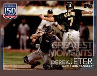 2019 Topps Series 2 150 Greatest Moments #GM-8 Blue Parallel DEREK JETER Yankees
