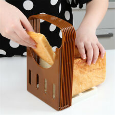 New Compace Foldable Bread Loaf Toast Slicer Cutter Slicing Guide Kitchen Tool