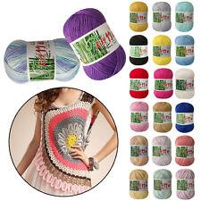 20 colors Soft Bamboo Crochet Cotton 50g Baby/Kids Knitting Wool Yarn DAZ AO