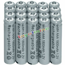 20x AAA battery batteries Bulk Nickel Hydride Rechargeable NI-MH 1800mAh 1.2V Gy
