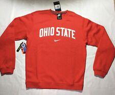 NEW Ohio State Buckeyes Nike Crewneck Sweatshirt Red Medium