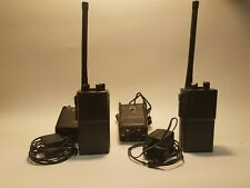 Maxon CP-0510 Walkie Talkies with charges and Nice Leather cases