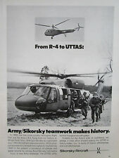 9/1972 PUB SIKORSKY R-4 UTTAS UNITED STATES ARMY HELICOPTER INFANTRY AD