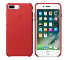 """RED Apple 100% Original Natural Leather Case For iPhone 7 Plus (5.5"""") RETAIL"""