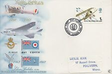ROYAL AIRFORCE GOLDEN JUBILEE 1968 FIRST DAY COVER FDC WITH HENDON CDS