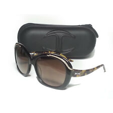 Just Cavalli Women Sunglasses Tortoise Brown Butterfly JC638 New With Case