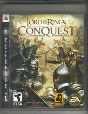 THE LORD OF THE RINGS CONQUEST PS3 PLAYSTATION 3 GAME