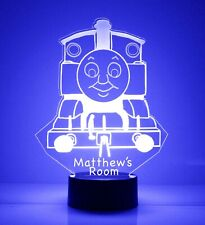 Thomas the Tank Train Personalized FREE LED Night Light Lamp + Remote Control