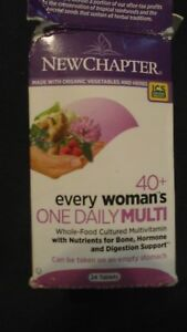 New Chapter 40+ Every Woman's One Daily Multi Multivitamin 13 Tablets OPENED #5