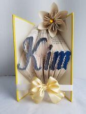 CUSTOM Folded Book Art - Creative Gift Birthday/Wedding20% OFF M.L.K SALE