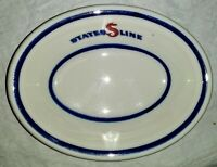 Vintage States Line Steamship Co. Small Oval Monkey Bowl Jackson China