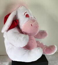 Disney Store White and Pink Eeyore 12 inch Plush RARE