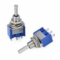 10 Stück MTS103 Miniatur Kippschalter Toggle Switch Schalter Ein/Aus/Ein 3 Pins