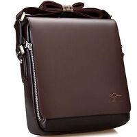 Men's Leather Shoulder Bag Handbag Briefcases Small Casual Travel Messenger Bags